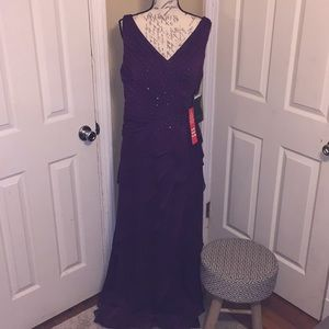 Ignite evening gown in shimmery purple